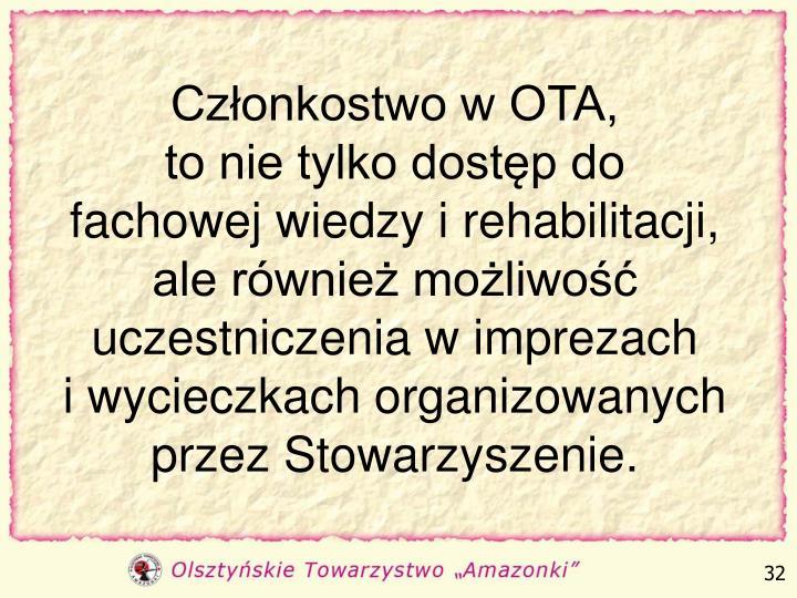 Członkostwo w OTA,