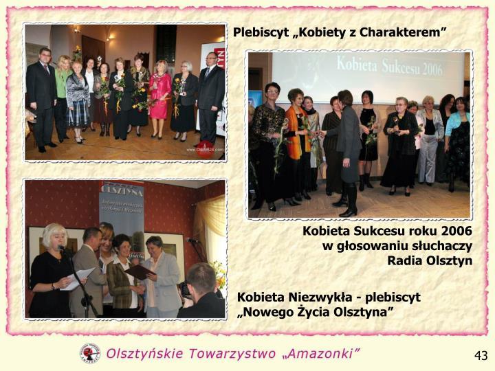 """Plebiscyt """"Kobiety z Charakterem"""""""