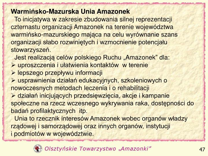 Warmińsko-Mazurska Unia Amazonek