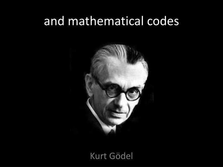and mathematical codes