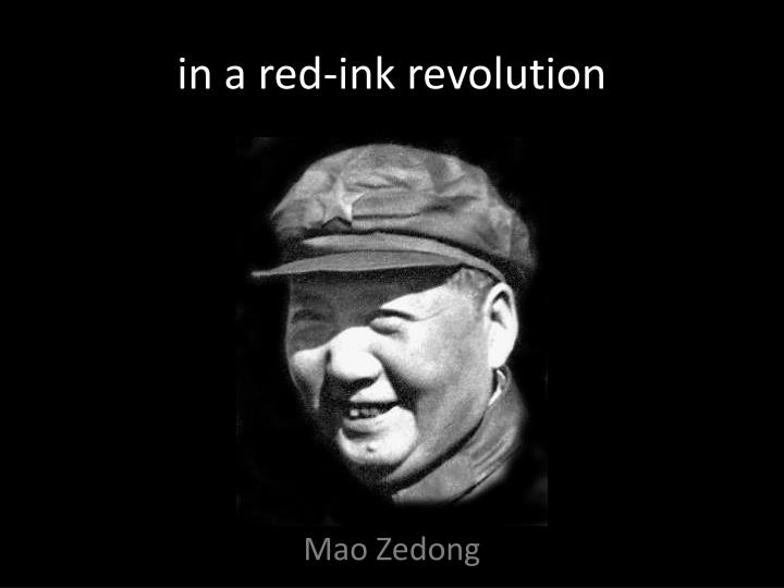 in a red-ink revolution