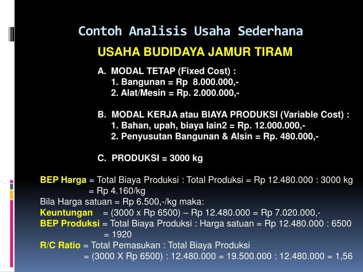Contoh Proposal Usaha Dan Business Plan