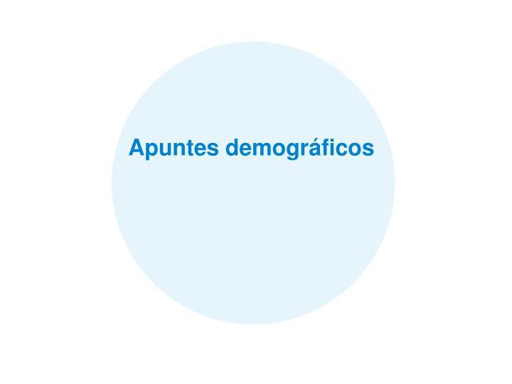 Apuntes demogrficos