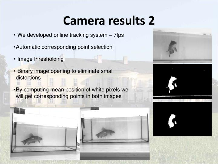 Camera results