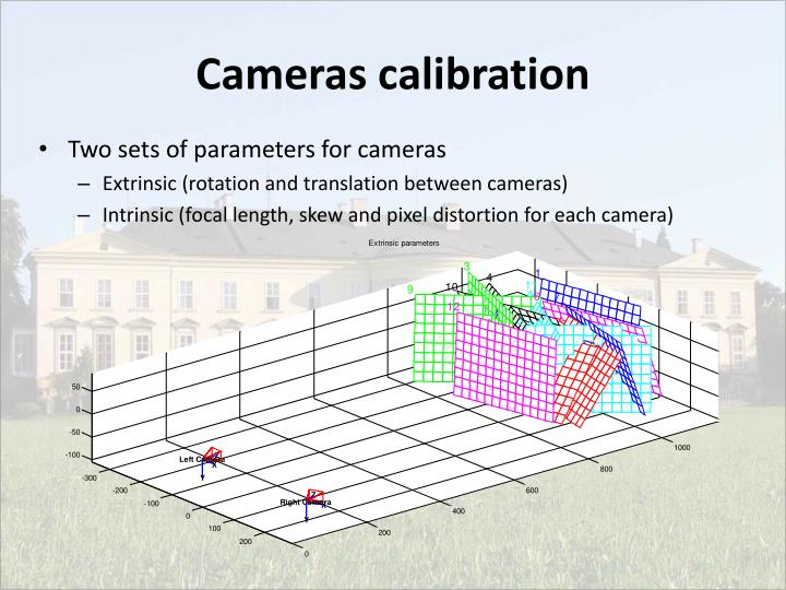 Cameras calibration