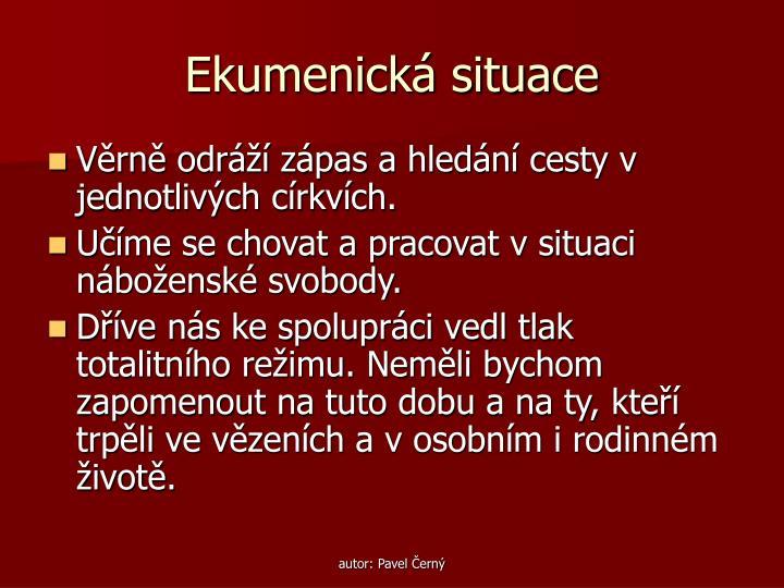 Ekumenická situace