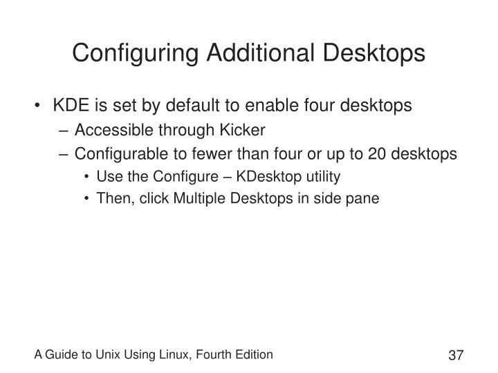 Configuring Additional Desktops