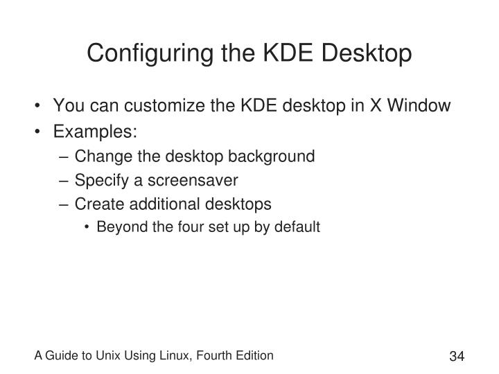 Configuring the KDE Desktop