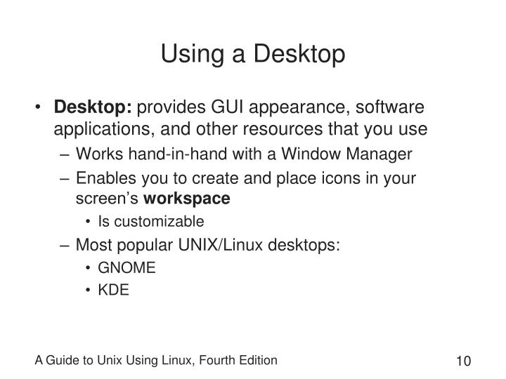 Using a Desktop