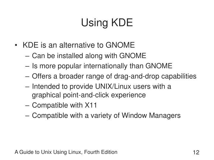 Using KDE