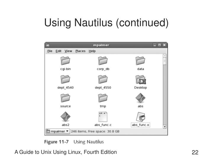 Using Nautilus (continued)
