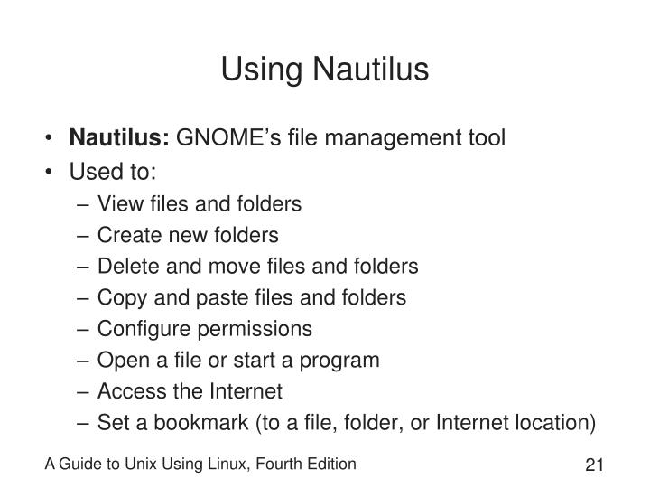 Using Nautilus