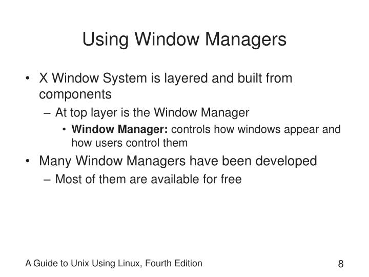Using Window Managers