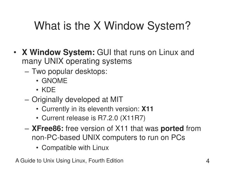 What is the X Window System?
