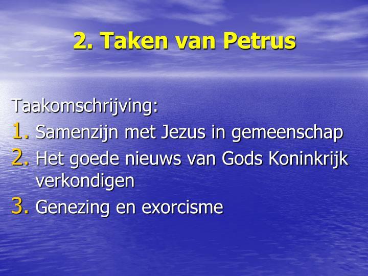 2. Taken van Petrus