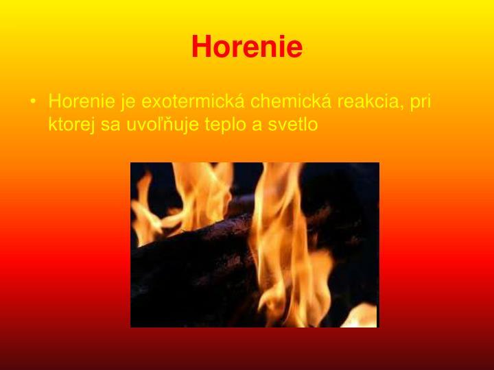 Horenie