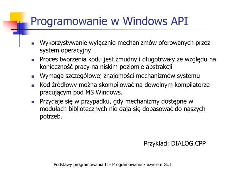 Programowanie w Windows API