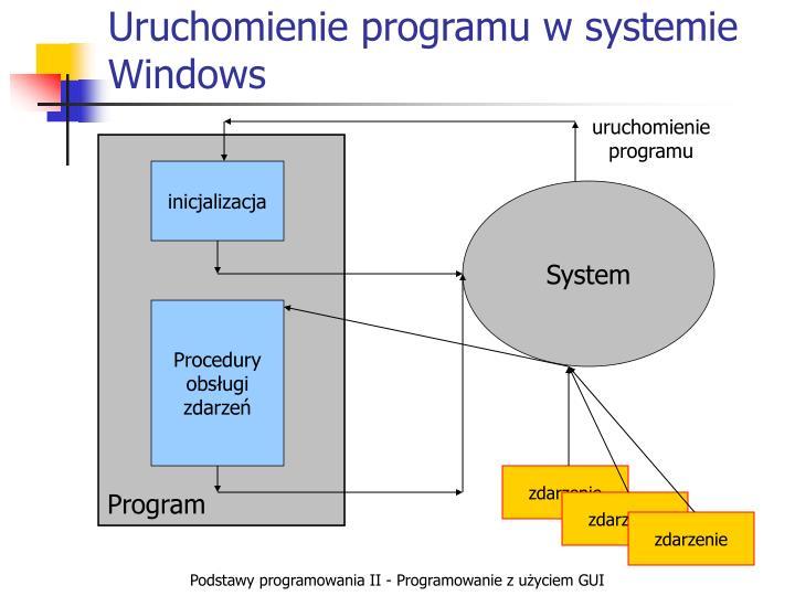 Uruchomienie programu w systemie Windows