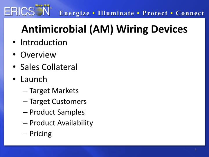 Antimicrobial (AM) Wiring Devices