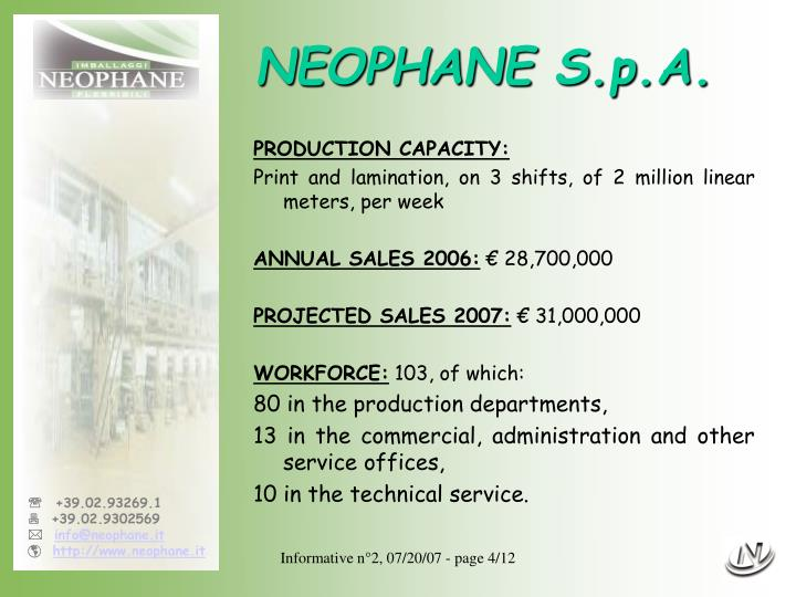 NEOPHANE S.p.A.