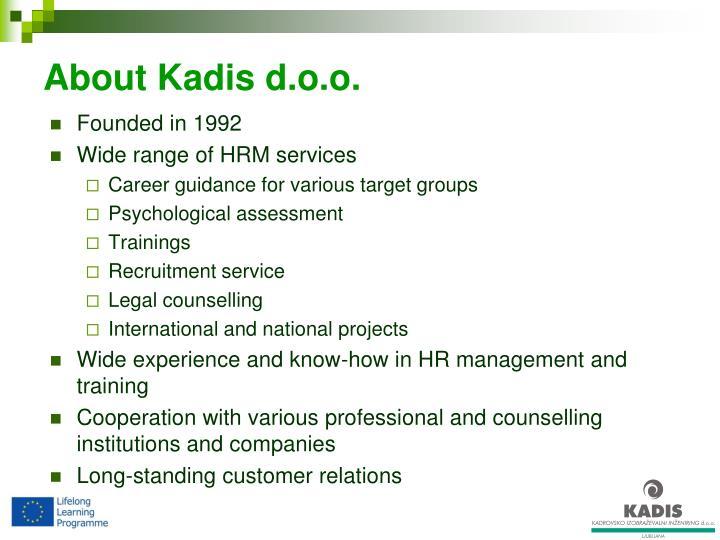 About Kadis d.o.o.