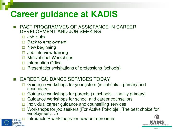 Career guidance at kadis