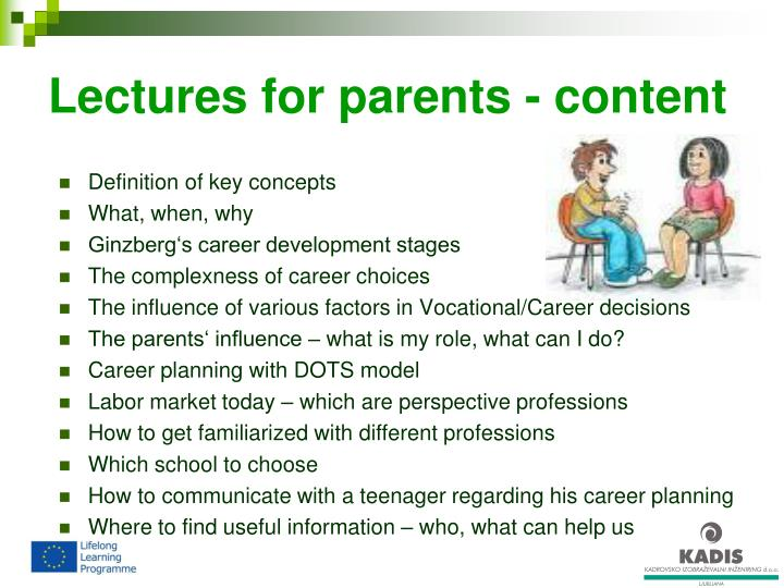 Lectures for parents - content