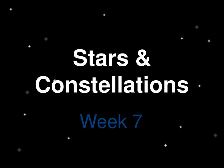 Stars constellations