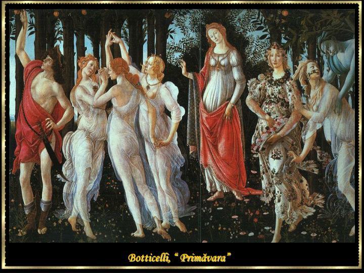 """Botticelli, """" Prim"""