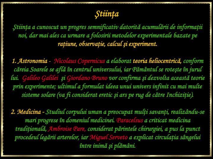 Ştiinţa