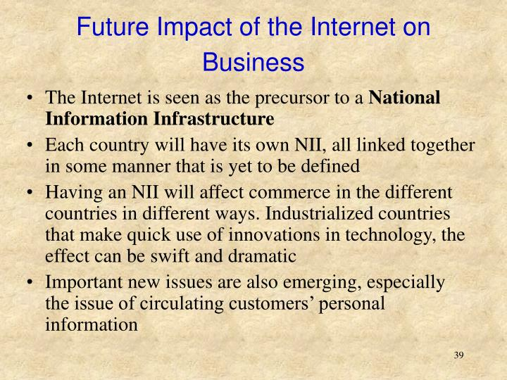 Impact of internet on business in future