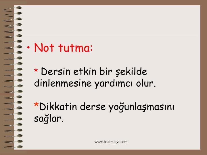 Not tutma: