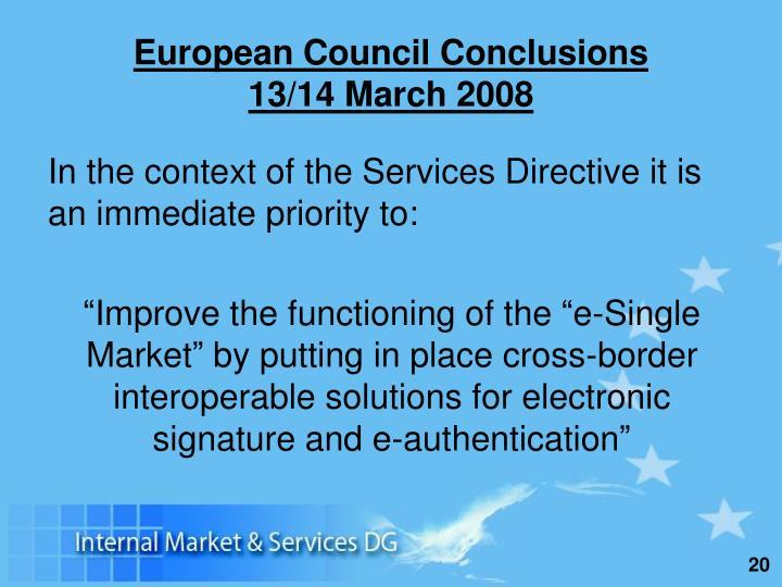 European Council Conclusions