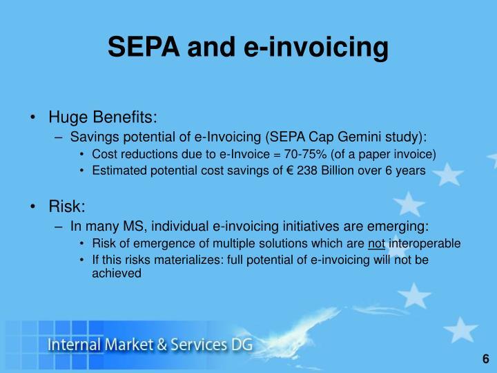 SEPA and e-invoicing