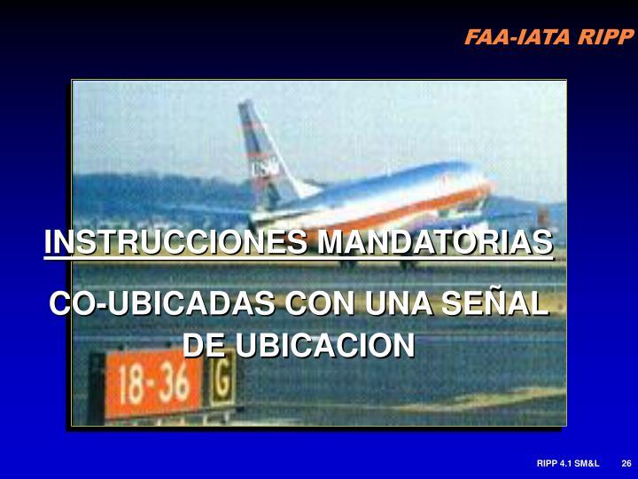 INSTRUCCIONES MANDATORIAS