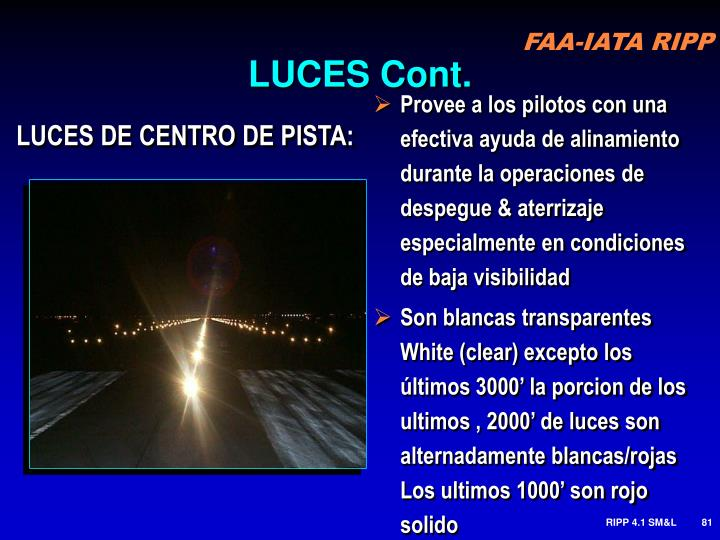 LUCES Cont.