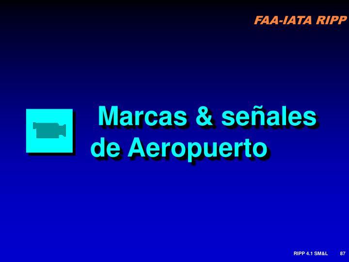 Marcas & señales de Aeropuerto
