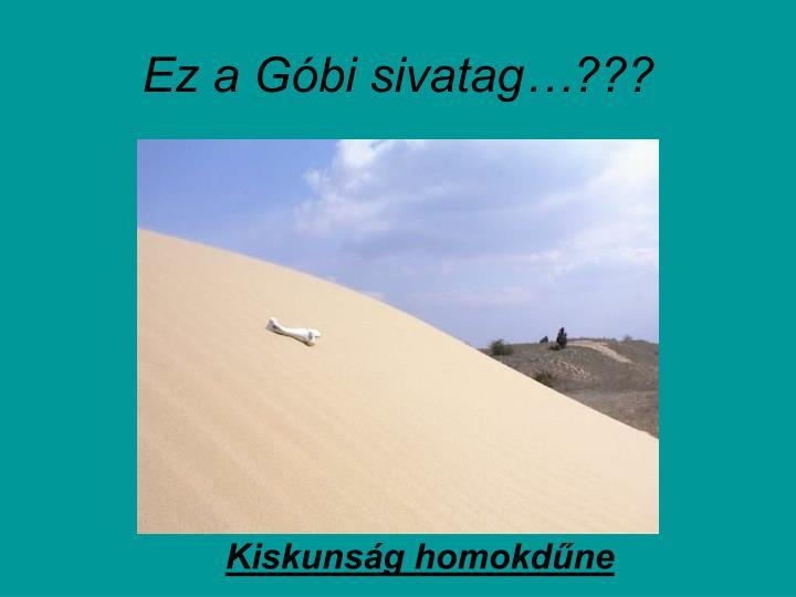 Ez a Góbi sivatag…???