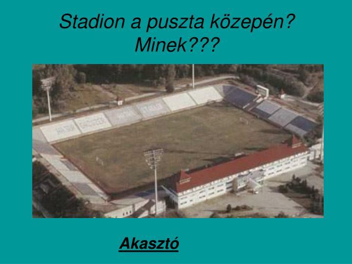 Stadion a puszta közepén? Minek???