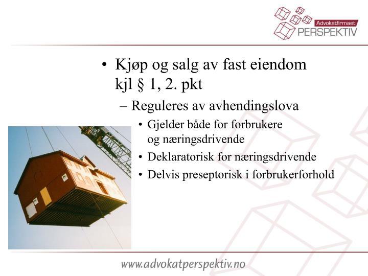 Kjøp og salg av fast eiendom