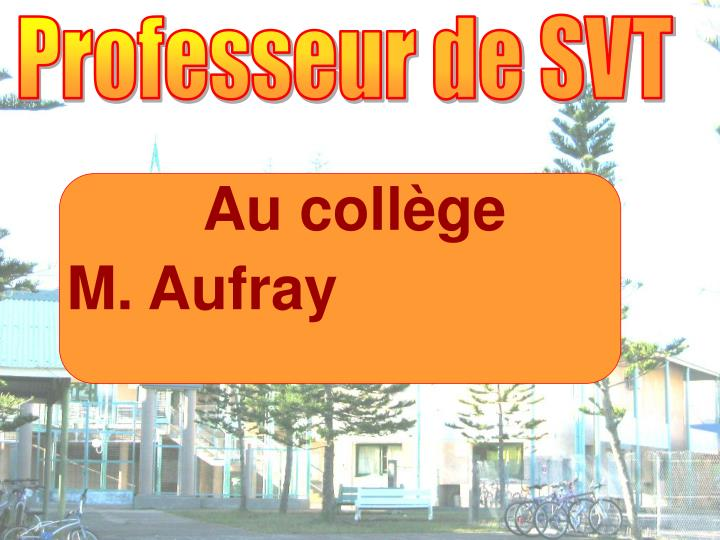 Professeur de SVT