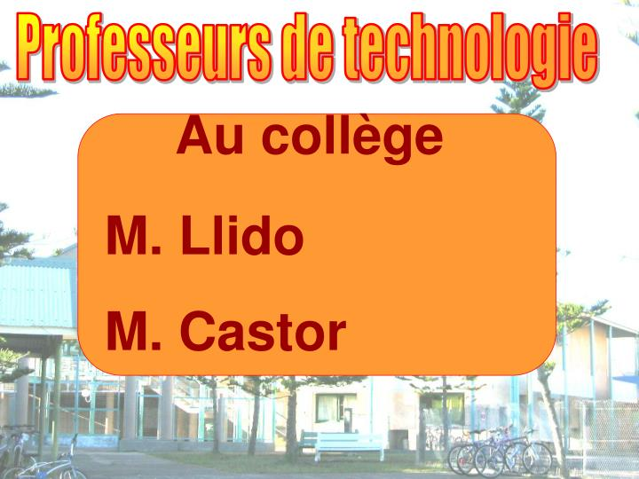 Professeurs de technologie