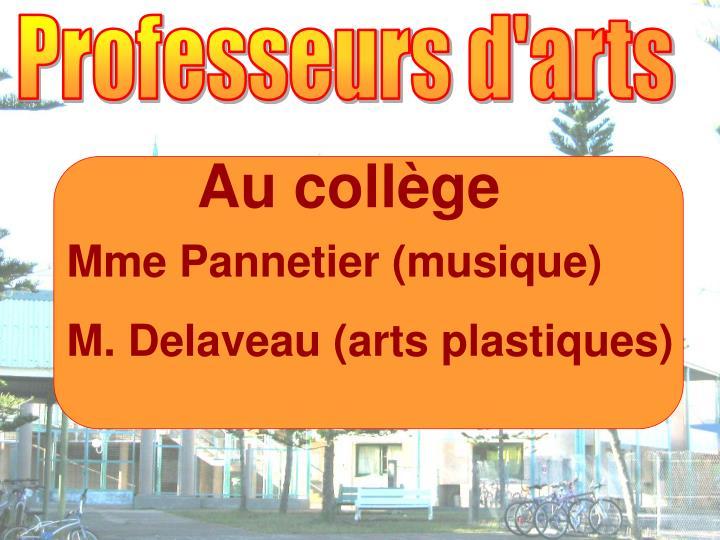 Professeurs d'arts