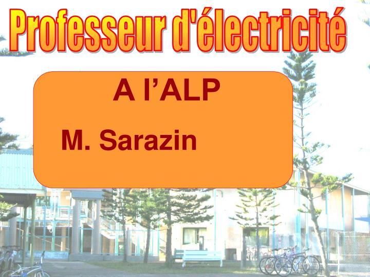 Professeur d'électricité