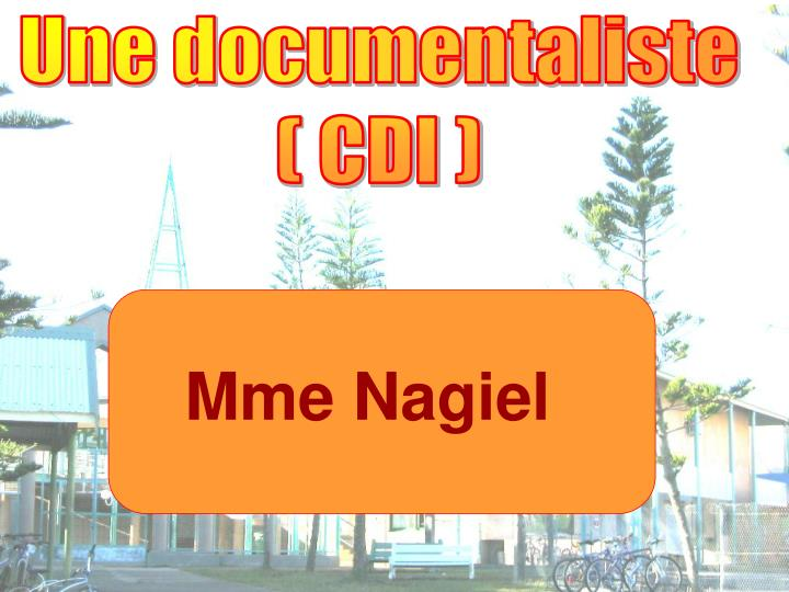 Une documentaliste