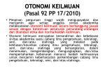otonomi keilmuan pasal 92 pp 17 2010