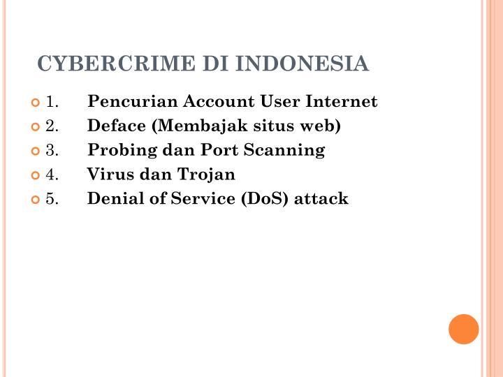 CYBERCRIME DI INDONESIA