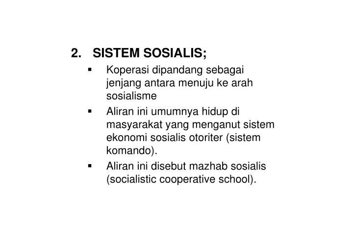 SISTEM SOSIALIS;