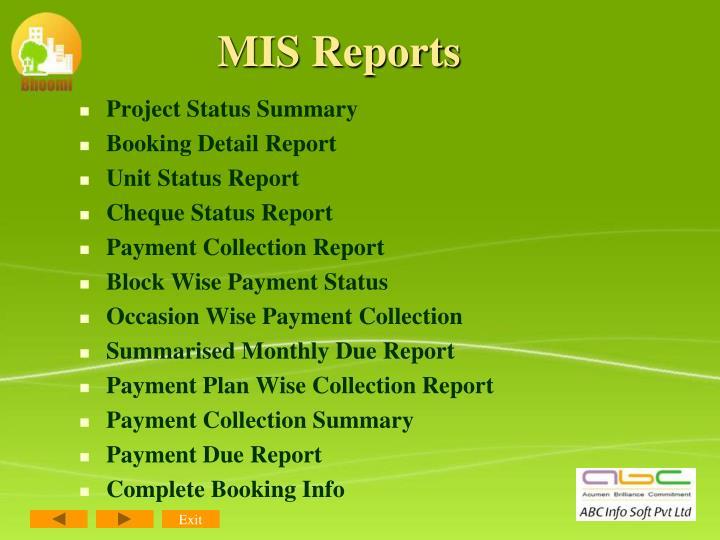 MIS Reports