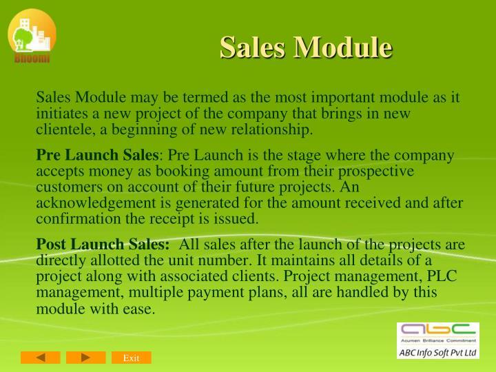 Sales Module